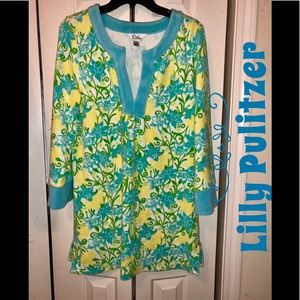 EUC❤️ Lilly Pulitzer❤️Floral SwimSuit Coverup